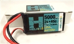Helios RC 5000mAh 2S 7.4V 45C Shorty LiPo Battery - Deans