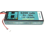 Helios RC 5200mAh 2S 7.4V 50C LiPo Battery - EC3