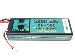 Helios RC 5200mAh 2S 7.4V 50C LiPo Battery - EC5