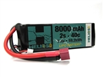 Helios RC 2S 7.4v 8000mAh 40c Lipo Battery with Deans Plug