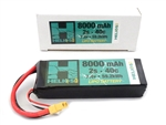 Helios RC 8000mAh 2S 7.4V 40C LiPo Battery - XT60