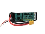Helios RC 5200mAh 3S 11.1V 50C LiPo Battery - XT60