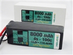 Helios RC 8000mAh 4S 14.8V 100C LiPo Battery - EC5