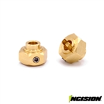 Incision Brass 12mm Hex