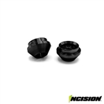 Incision Aluminum Lower Spring Cup for Incision Shocks - Black