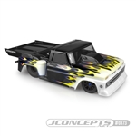 JConcepts 1966 Chevy C10 Step-Side Clear Drag Body with Ultra Rear Wing