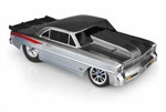 JConcepts 1966 Chevy II Nova (V2), 1 Piece Clear Drag Body