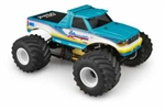 JConcepts 1993 Ford F-250 Monster Truck Clear Body with Racerback and Sun Visor