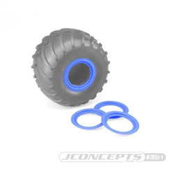 JConcepts Tribute Wheel (Glue On) Mock Beadlock Rings (4) Blue