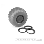 JConcepts Tribute Wheel (Glue On) Mock Beadlock Rings (4) Black