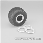 JConcepts Tribute Wheel (Glue On) Mock Beadlock Rings (4) White