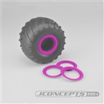 JConcepts Tribute Wheel (Glue On) Mock Beadlock Rings (4) Pink