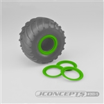 JConcepts Tribute Wheel (Glue On) Mock Beadlock Rings (4) Green