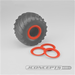 JConcepts Tribute Wheel (Glue On) Mock Beadlock Rings (4) Orange
