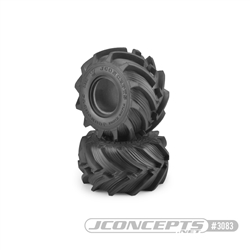 "JConcepts Fling Kings Jr. 2.2"" Monster Truck Tires - Blue Compound (2)"