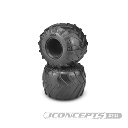 "JConcepts JCT 2.6"" x 3.6"" Scale Monster Truck Tires Blue (Soft) Compound (2)"