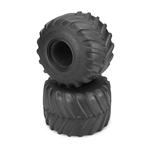 "JConcepts Firestorm 2.6"" x 3.6"" Scale Monster Truck Tires Blue (Soft) Compound (2)"
