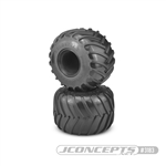 "JConcepts Golden Years 2.6"" x 3.6"" Scale Monster Truck Tires Blue (Soft) Compound (2)"