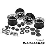 "JConcepts Vengeance 2.2"" Axial Yeti 12mm Glue-On Wheels w/ Caps & Adapters (4)"