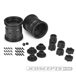 "JConcepts Midwest 2.2"" MT 12mm Hex Wheel w/ Adaptors Black (2)"