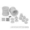 "JConcepts Midwest 2.2"" Monster Truck 12mm Hex Wheels w/ Adapters White (2)"