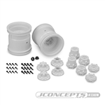 "JConcepts Midwest 2.2"" MT 12mm Hex Wheel w/ Adaptors White (2)"