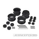 "JConcepts Krimson Dually 2.6"" Dual Truck Wheels Black (2)"