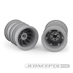 "JConcepts Krimson Dually 2.6"" Dual Truck Wheels Gray / Silver (2)"