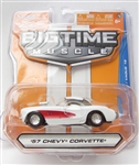 Jada Toys Big Time Muscle Wave 19 1957 Chevy Corvette
