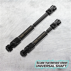 JunFac Scale Hardened Steel Universal Shafts (2) for Gmade R1 Rock Buggy