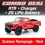 Kyosho Outlaw Rampage PRO 2WD RTR - Red Combo with Charger and 2S LiPo Battery