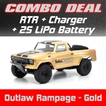 Kyosho Outlaw Rampage PRO 2WD RTR - Gold Combo with Charger and 2S LiPo Battery