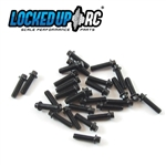 Locked Up RC 1-64 x .25 Scale Hex Bolts (30) Black