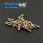 Locked Up RC 1-64 x .25 Scale Hex Bolts (30) MC Zinc