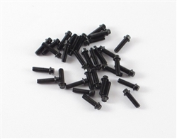 Locked Up RC M2 x 7mm Scale Hex Bolts (30) Black
