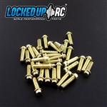 Locked Up RC M2 x 7mm Scale Hex Bolts (30) Brass Plated
