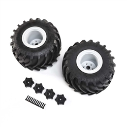Losi Mounted Monster Truck Tires, Left and Right, LMT (2)