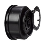 Losi Front Wheel Set Black XXX-SCT, SCB (2)