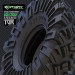 "Team Ottsix Racing 2.2"" Kryptonite Kustoms USD Sticky Tires - Red (Super Soft) (2)"