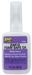 Pacer Technology Zap-O Foam Safe CA Glue .7 oz