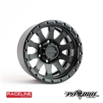 "Pit Bull RC 1.55"" Raceline ""Clutch"" Aluminum Wheels - Black (4)"