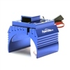 Powerhobby Aluminum Motor Heatsink with Cooling Fan for 1/8 Size Motors, Blue