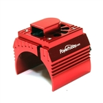 Powerhobby Aluminum Motor Heatsink with Cooling Fan for 1/8 Size Motors, Red