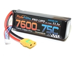 Powerhobby 7600mAh 11.1V 3S 75C LiPo Battery with XT90 Plug