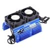 Powerhobby Heat Sink with Twin Tornado High Speed Fans, for 1/8 Motors, Blue