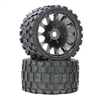 "Powerhobby Scorpion BELTED Monster Truck Pre-mounted Tires on 3.8"" Wheels (2)"