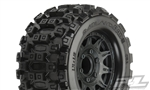 "Pro-Line Badlands MX28 2.8"" All Terrain Tires Mounted on Raid Black Wheels (2)"