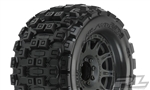 "Pro-Line Badlands MX38 3.8"" All Terrain Tires Mounted on Raid Black Wheels (2)"
