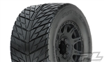 "Pro-Line Street Fighter HP 3.8"" Street Belted Tires, Mounted on Raid Black 8x32 Removable Hex Wheels (2pcs)"