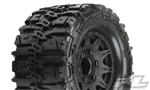 "Pro-Line Trencher HP 2.8"" All Terrain Belted Tires Mounted on Raid Black Wheels (2)"